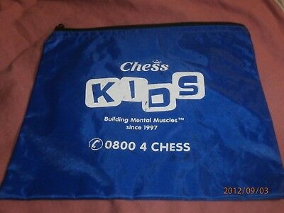 """""""chess Kids"""" Building Mental Muscles Chess Bag For Tournament Size - Free Post"""