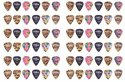12 Assorted Colour Celluloid Guitar Picks 3 Designs