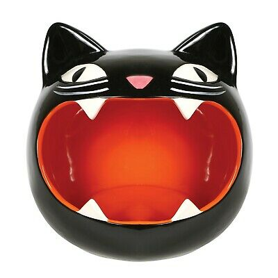 What On Earth Black Cat Candy Bowl - Kitty Dish - Perfect for Halloween Decor