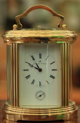 Swiss Mathew Norman 1751 Grande Oval Striking Repeater Alarm Carriage Clock