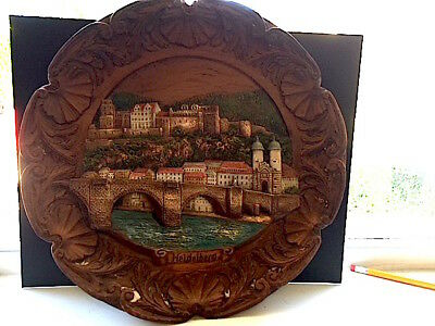 Heidelberg Solid Wood Hand-Carved Hand-Painted Wall Hanging