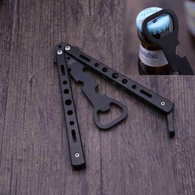 Practice Balisong Butterfly Trainer Knife Safety Metal Beer bottle Opener