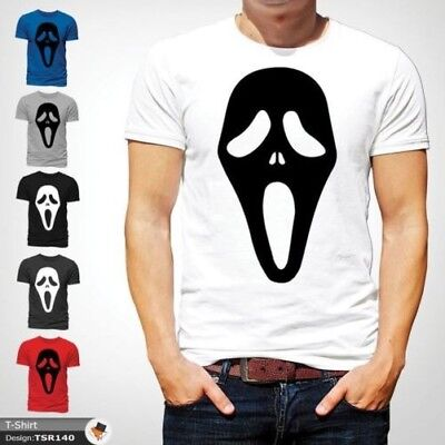 Da Uomo Gotico Donna Film Unisex Scream Maschera Shirt T Horror 80mNvnw