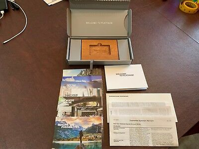 American Express Platinum Welcome Package Kit Complete Amex Wood 2018