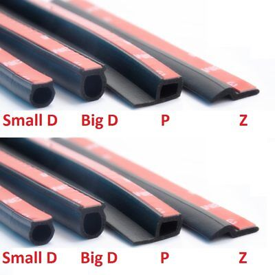 D Z P B Type  Adhesive Car Rubber Seal Weatherstrip Door Edge Sealing
