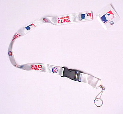 Chicago Cubs Baseball Lanyard with Detachable Key Ring MLB Licensed