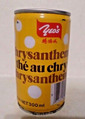 Vintage Rare Yeo's Chrysanthemum Tea Singapore 10 oz Steel Soda Pop Can