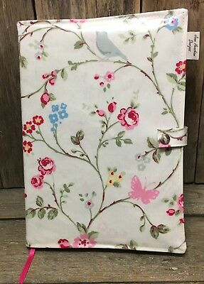 A4 diary cover,book bag,A4 book bag,diary cover,Bird Trail oilcloth