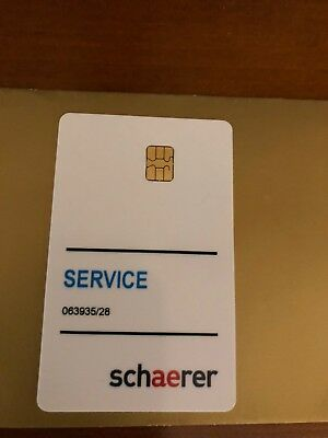 Schaerer Coffee Machine Service Card**Brand New**