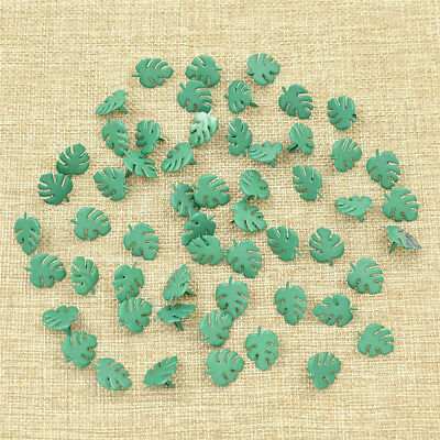 50 Pcs Banana Leaf Brads Scrapbooking Embellishment Metal Fastener DIY Craft