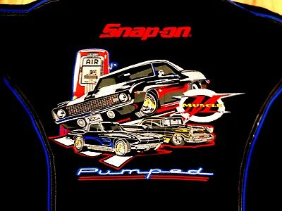 Snap-on Choko Motorsport  Racing Jacket Black Embroidered Lined Spring Fall New