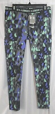 Under Armour Girls' HeatGear Printed Legging YXL Big Girls Purple/black/Gray