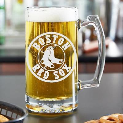 Boston Red Sox- Custom Made Beer Stein- SANDBLASTED!!!