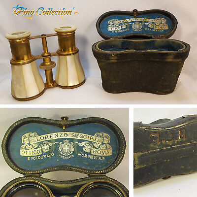 ANTIQUE MOTHER PEARL THEATER BINOCULAR OPERA GLASSES His Majesty King of Italy