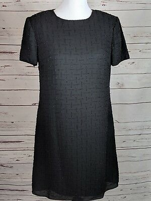 54eaa3f20dc Talbots Petite Size 12 Beaded Holiday Short Sleeve Dress party formal  evening