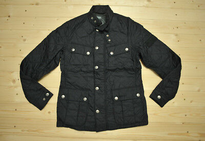 Mens BARBOUR International Ariel Quilted Navy Jacket size S