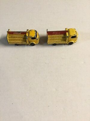 Two Vintage COCA COLA Matchbox Lorry Delivery Trucks 1960's #37