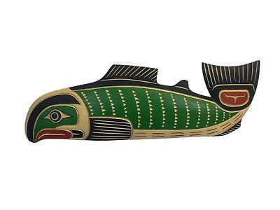 Northwest Coast Native American Salmon Plaque (EB-105-G1808) U10-RM2