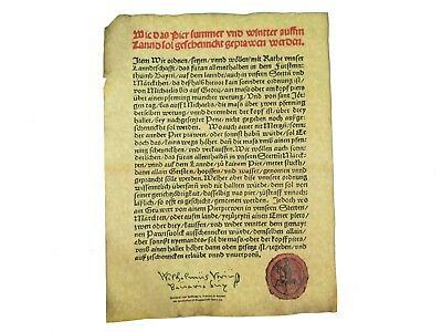 German Beer Purity Act of 1516 - Reinheitsgebot Parchment (EB-123-004) RM1