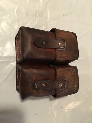1-Yugoslavian SKS Leather Dual Cell Ammo Pouch #3