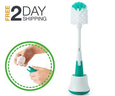 OXO Tot Bottle Brush Cleaning Firm Bristle With Nipple Cleaner and Stand