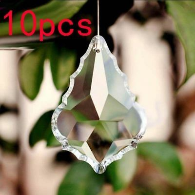 Clear 50pcs 1.5*1 inch Chandelier Glass Crystal Lamp Prisms Hanging Drop Pendant