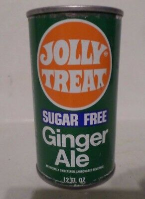 Rare Jolly Treat Ginger Ale Moulas Supermarkets Straight Steel Soda Pop Can