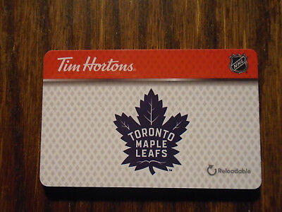 Tim Hortons Reloadable Quickpay Gift Card - Toronto Maple Leafs