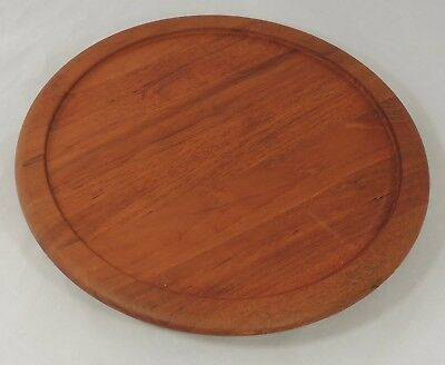 Digsmed Denmark Mid Century Danish Modern Teak Wood Lazy Susan Serving Tray EUC