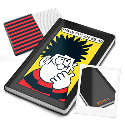 I've an Idea Beano Notebook | Dennis the Menace | A5 Lined Moleskine Style Black