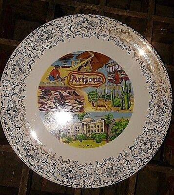 "ARIZONA Decorative Collectible Souvenir 9"" State Plate"