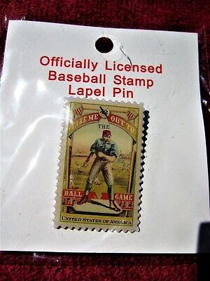 Officially Licensed Baseball Stamp Lapel / Hat Pin.