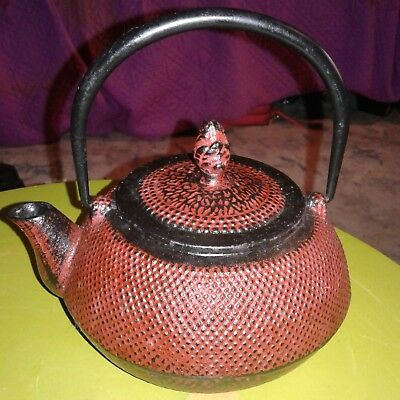Antique Japanese Metal Teapot With Markings