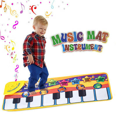 Kid Baby Piano Mat Soft Touch Play Learn Singing Keyboard Music Musical Carpet