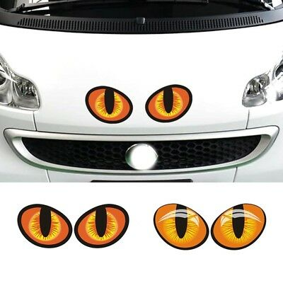 1Pair Car Sticker Lifelike Eyes Styling Car Window Rearview Mirror 3D Decal Hot