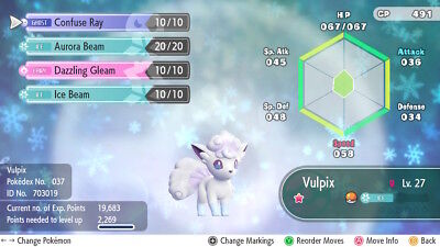 Pokemon Let's Go - Shiny Alolan Vulpix 6iv