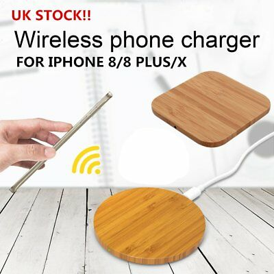 Bamboo Wood Qi Wireless Charger Pad For iPhone 8/8 Plus/iPhone X For SamsuIZ