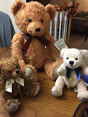 The Teddy Bear Museum Stratford-Upon-Avon 100th Anniversary Set of 3 w/ dust bag