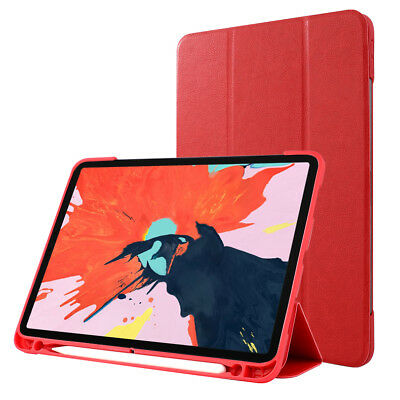 For iPad Pro 11-inch (2018) Tri-fold Stand PU Leather Smart Case Cover M6Y9