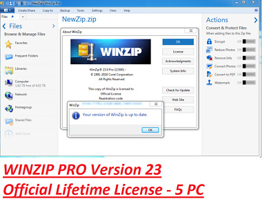 ✔️ Corel Winzip Pro 23 NOT 22  ✔️ Official License Download ✔️ Windows for 5 PC