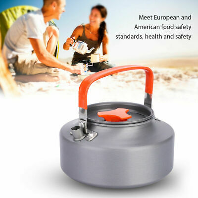 0.8L Portable Outdoor Hiking Camping Survival Water Kettle Teapot Coffee Po B1B2