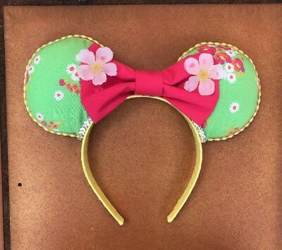 Disney Epcot Flower & Garden Festival Floral Minnie Ears Minnie The Gardener