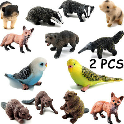 Animal Figurine Miniature Zoo Series Fairy Garden Decor Educational Model