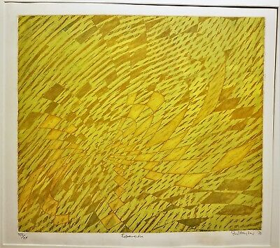 STANLEY WILLIAM HAYTER Expansion (B&M 334) 1970 RARE Fluorescent Color Etching