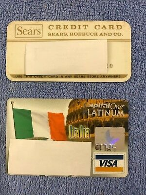 Vintage Old Credit Cards: Sears, Roebuck And Co., Capital One Platinum Visa