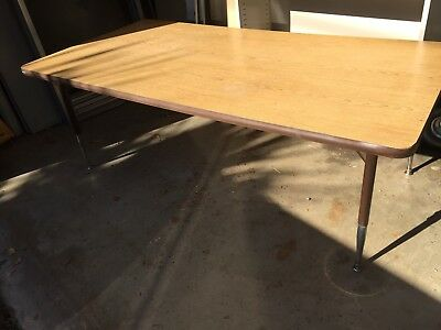 Retro Vintage Chrome 1970's Child size Formica Top Coffee Table 60/30/22