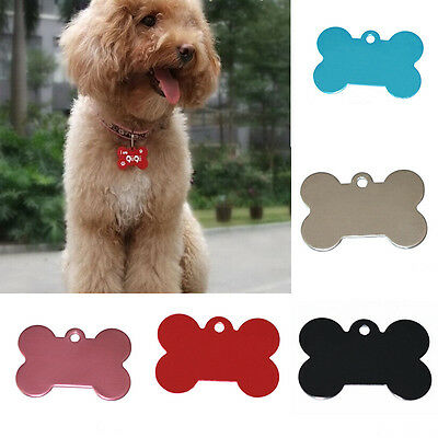 Pet Dog Cat Tag Identification Phone Bone Shape Charm Pet Tags DIY Dog Tags