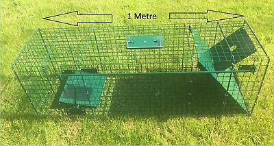 New Fox Cub Mink Pole Cat Feral Cat Live Catch Trap Single Door Marked/scratched