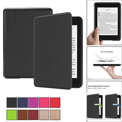 Para Nuevo Kindle Paperwhite 4 2018 Smart Fino Piel Sleep Awake Funda Tipo Libro