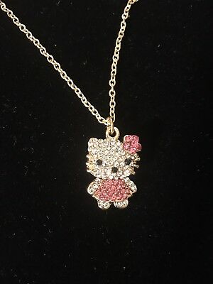hello kitty necklace Pendant Zirconia Stocking Stuffer Gift Women Kids US Seller
